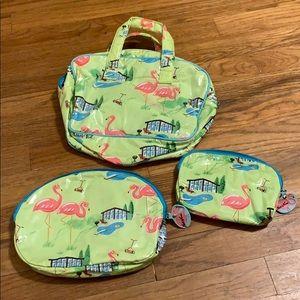 Nick & Nora flamingo bag set